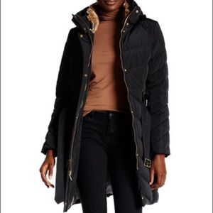NEW Cole Haan belted down coat
